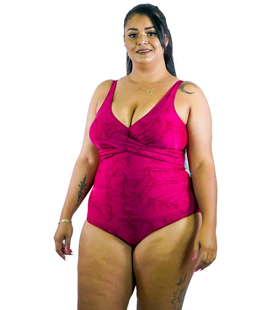 Maiô Transpasse com Bojo Plus Size AcQuaLua