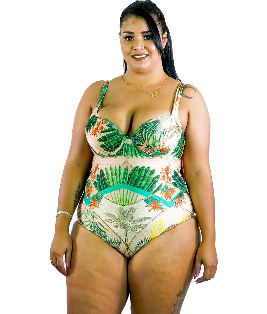 Maiô com Bojo Estruturado Plus Size AcQuaLua