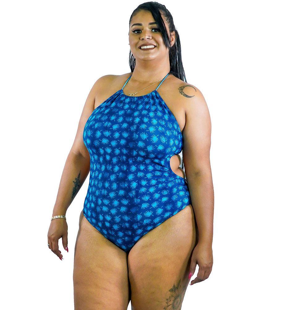 Maiô Cropped Plus Size AcQuaLua