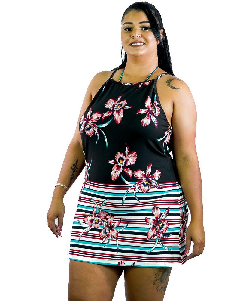 Saída de Praia Viscolycra Renata Plus Size AcQuaLua