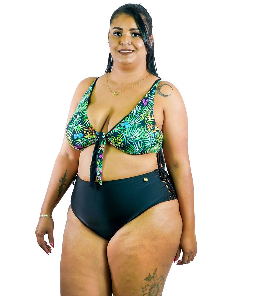 Sunquini com Calça Hot Pant Plus Size AcQuaLua