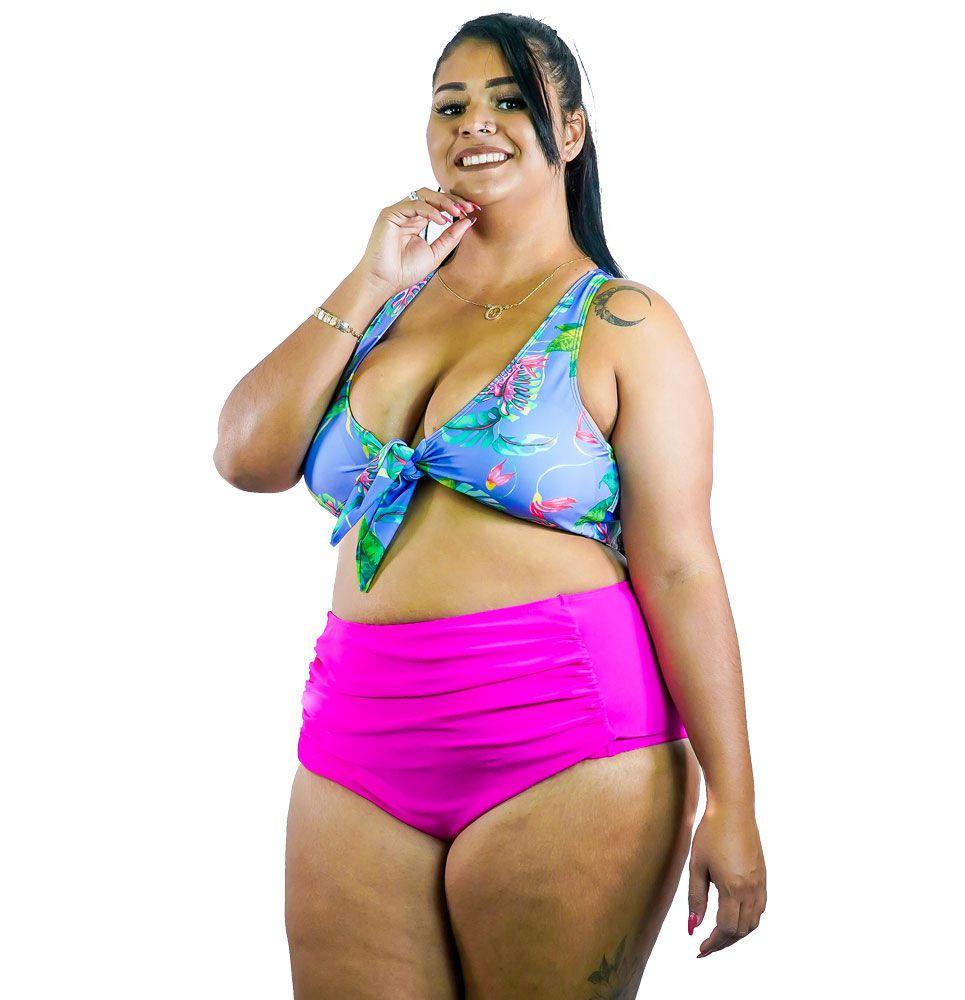Sunquini Drapeado com Bojo Plus Size AcQuaLua