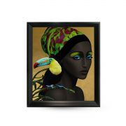 Quadro Decor Feminina Cultura Afro