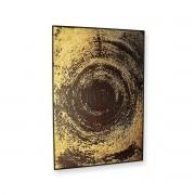 Quadro Decor Coleção Abstrato Espiral Dourado Negro