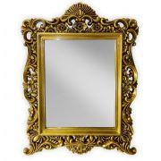 Espelho Veneziano Dourado Antique 84 x 64 cm