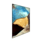 Quadro Decor Abstrato Azul Complementar 1