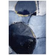 Quadro Decor Abstrato Reboco em tons azuis 2