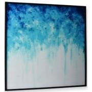 Quadro Decor Afresco Abstrato em Azul
