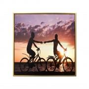 Quadro Decor Ciclistas ao Por dor Sol