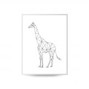 Quadro Decor Coleção Gráfico Girafa