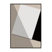Quadro Decor Geometria em Preto e Branco 1