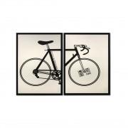 Quadro Decor Kit A bicicleta Desconstruida