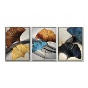 Quadro Decor Kit Coleção Nuances em Azul e Amarelo