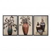 Quadro Decor Kit Coleção Vasos Decorativos
