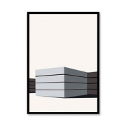Quadro Decor Kit Escalas de Cinza B