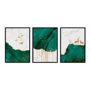 Quadro Decor Kit Verde Líquido