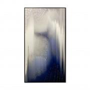 Quadro Decor Névoa Cinza e Azul Abstrata