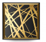 Quadro Decor Esquadrilhado Dourado