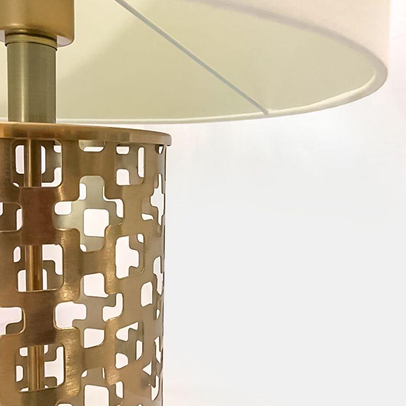 Abajur Metal Mosaico Vazado Golden