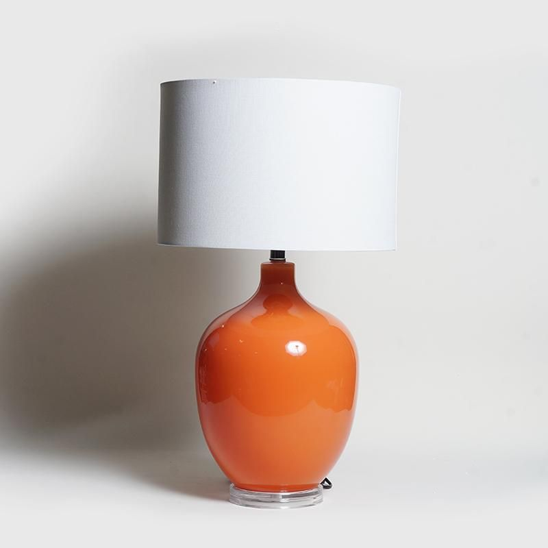 Abajur Design Glass Orange