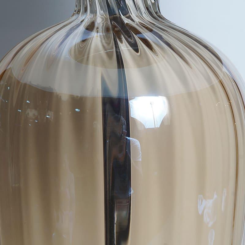 Abajur Design Glass Elegance Ocre