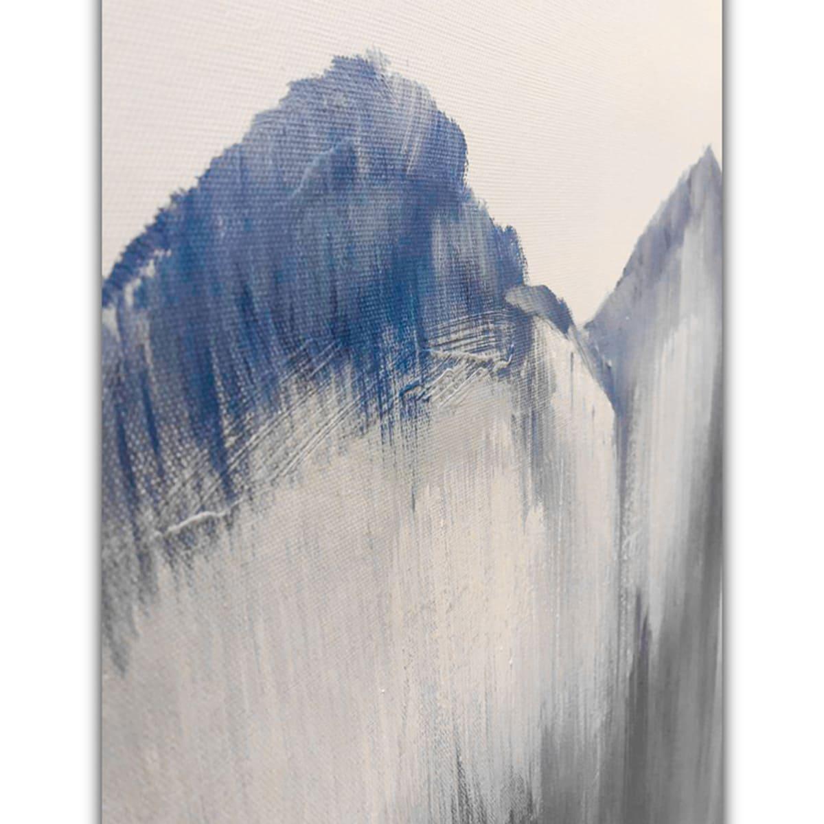Quadro Decor Silhueta Montanha Azul