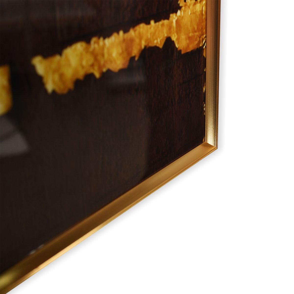 Quadro Decor Abstrato Retalhos Negros