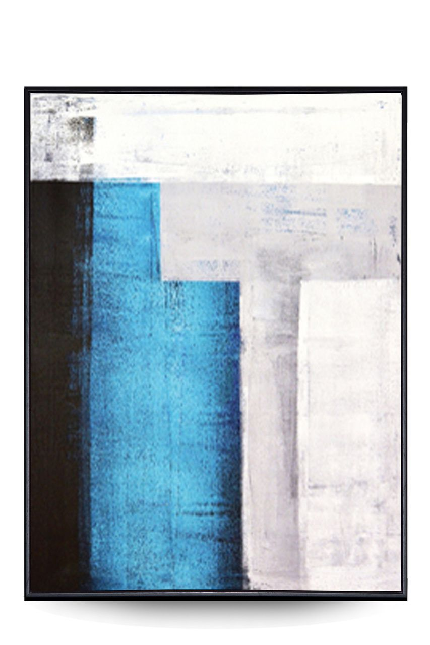 Quadro Decor Abstrato Minimalista Pátina Azul
