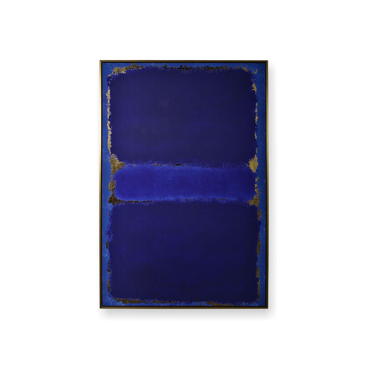 Quadro Decor Ensaio Dourado em Azul
