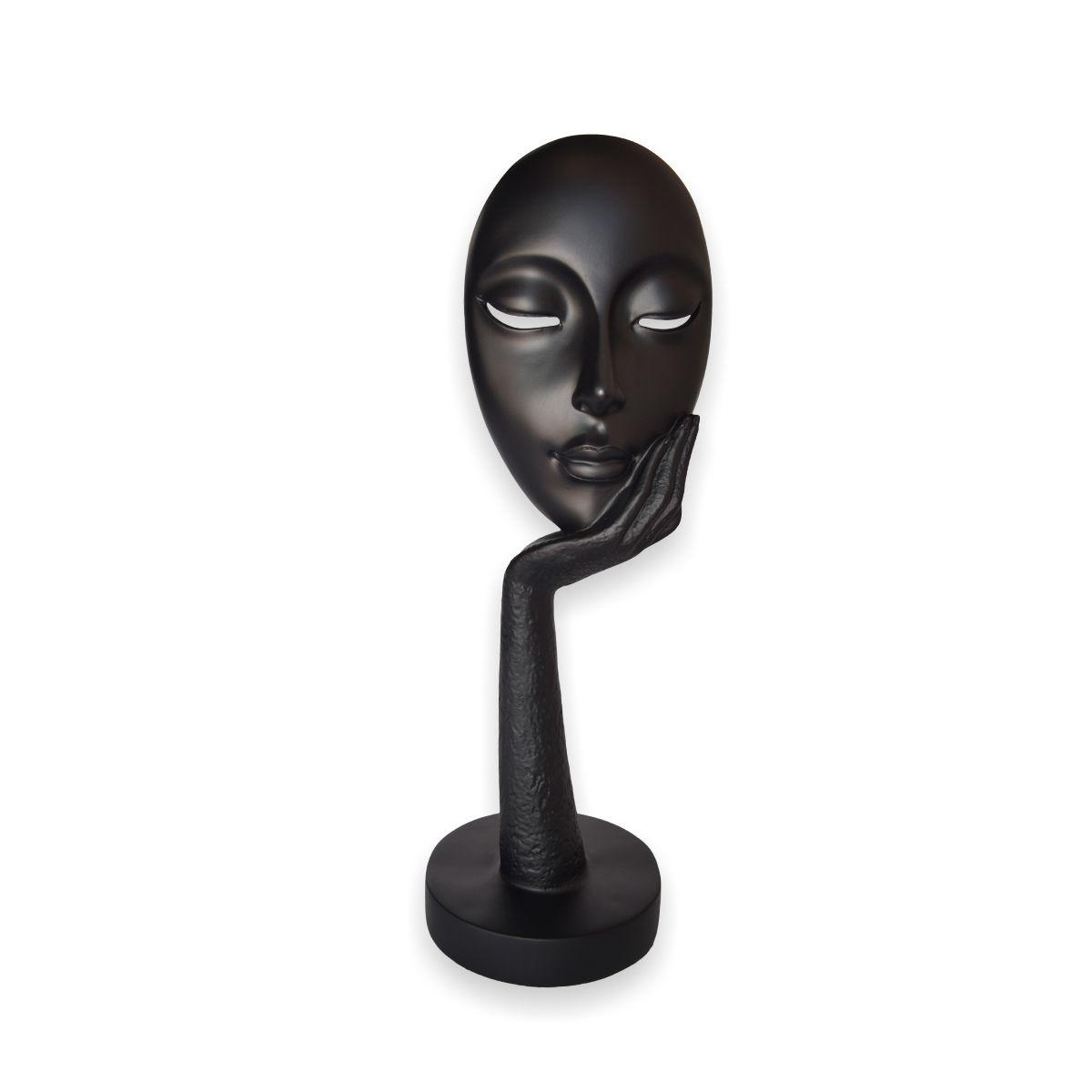 Busto Face Contemplativa Black By Akz Home