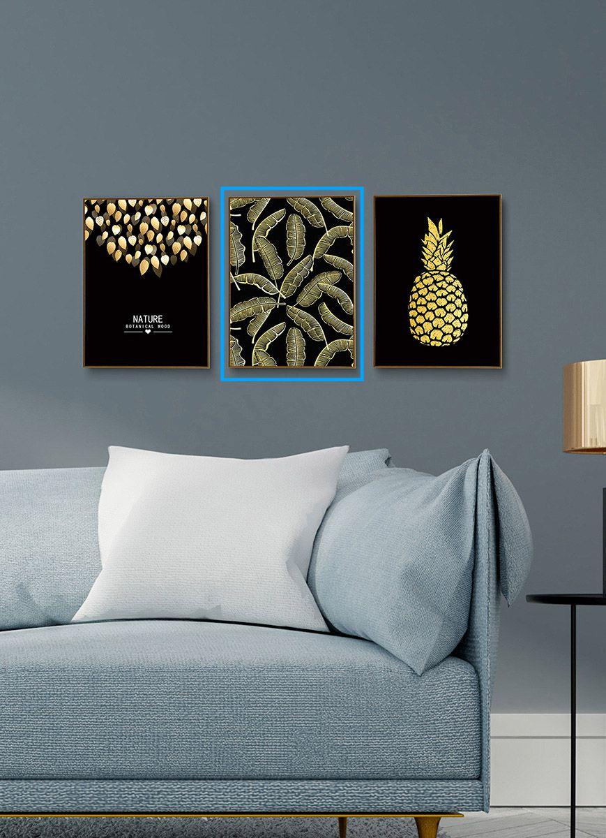 Quadro Decor Coleção As Folhas e o Abacaxi A