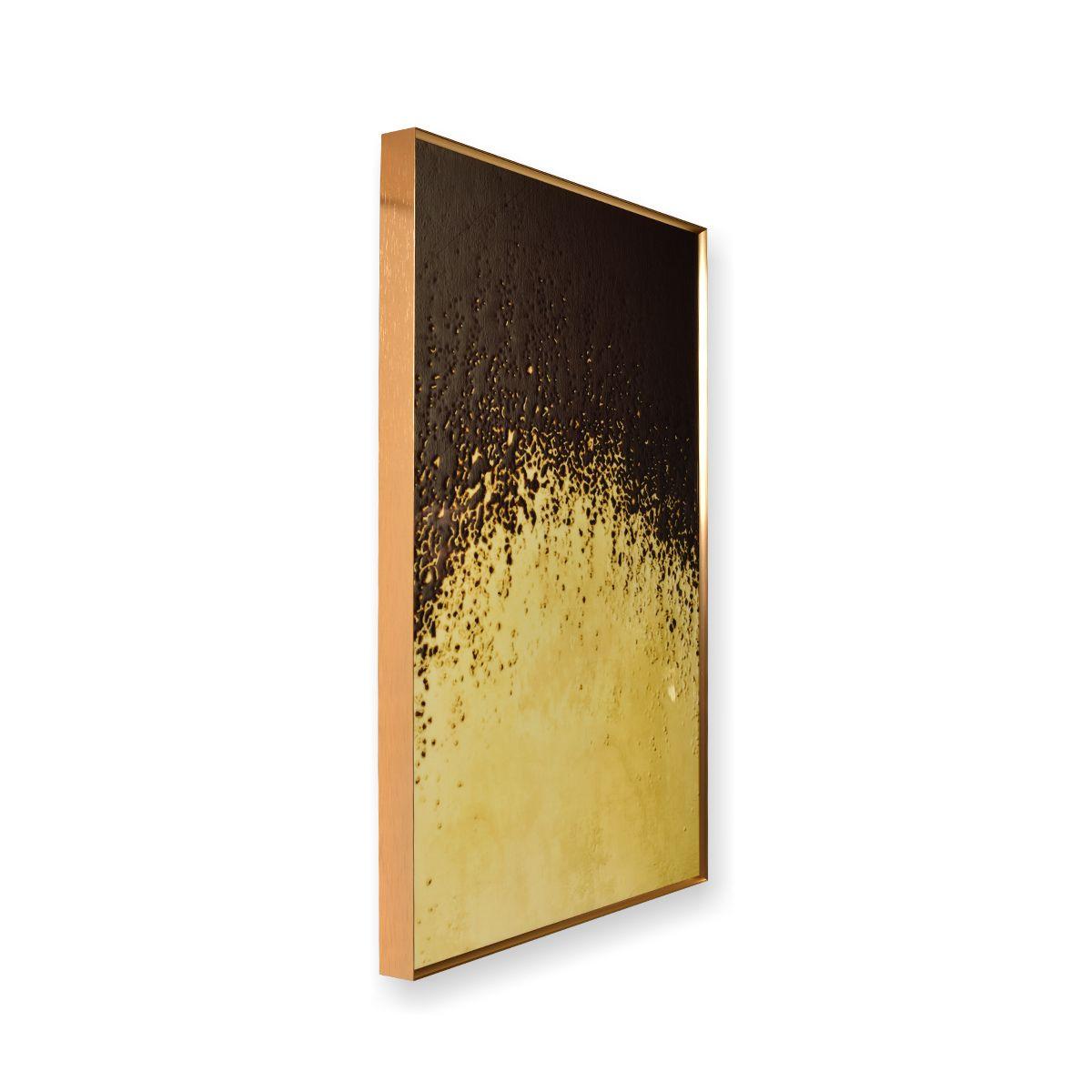 Quadro Decor Coleção Abstrato Areia Negra