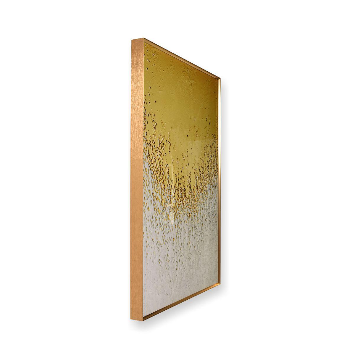 Quadro Decor Coleção Abstrato Areia Dourada