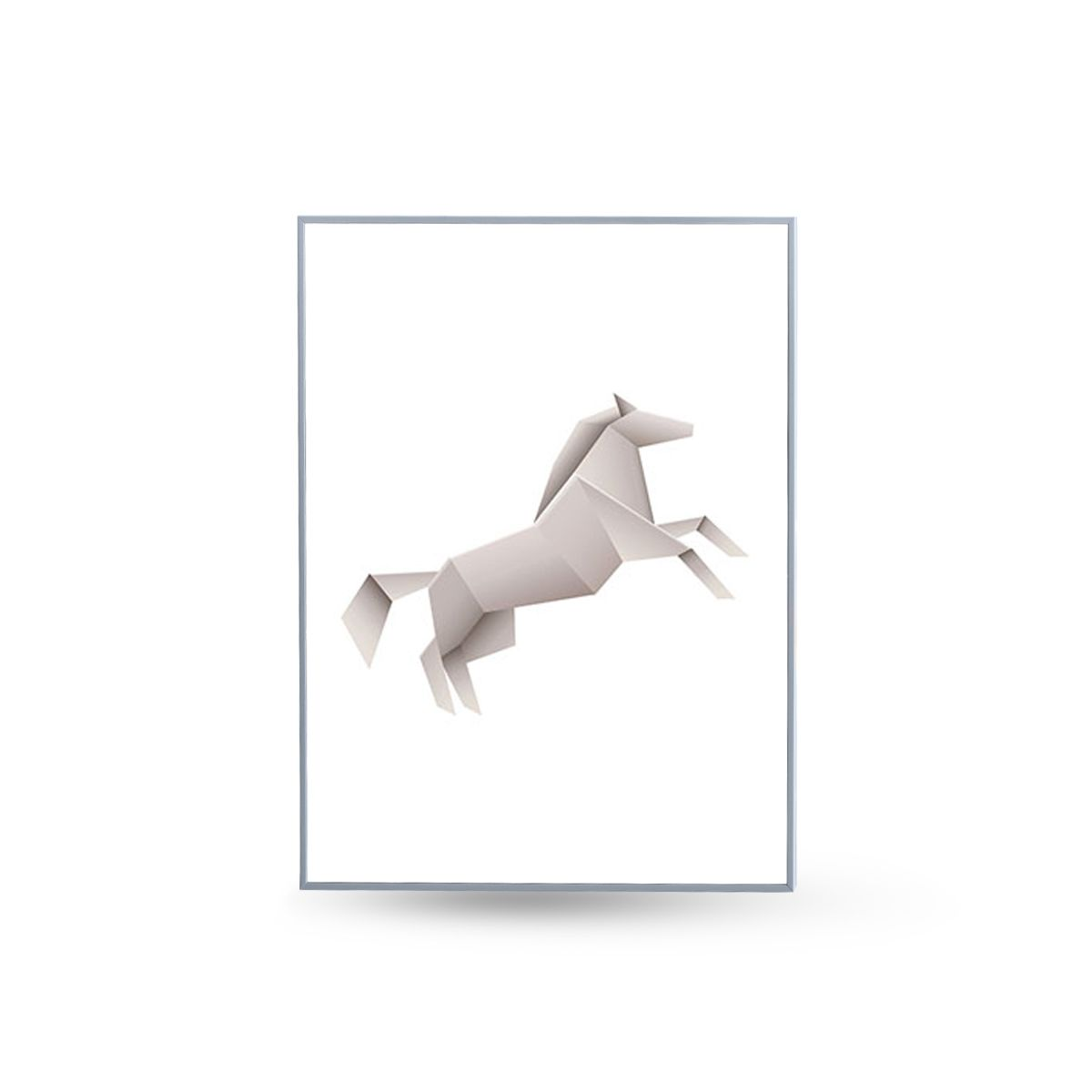 Quadro Decor Coleção Animais Origami Cavalo
