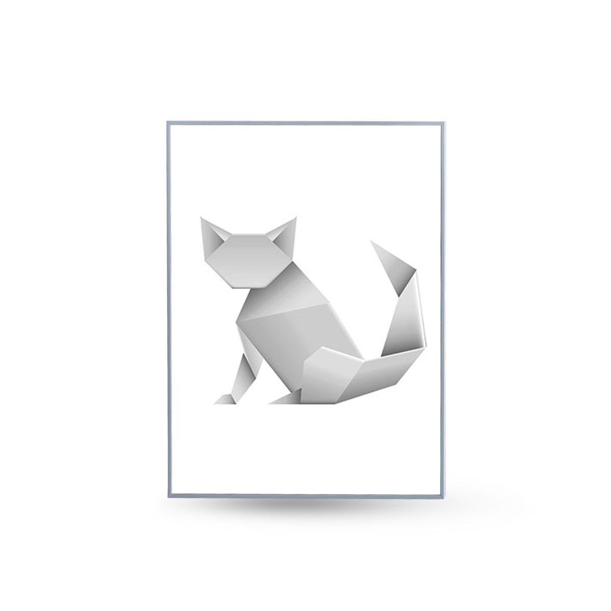 Quadro Decor Coleção Animais Origami Onça
