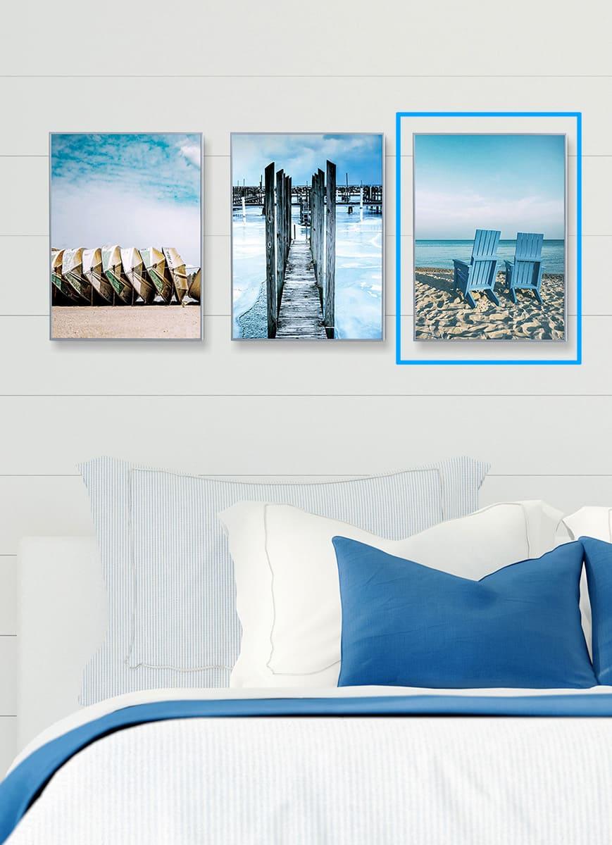 Quadro Decor Coleção Mar Azul A