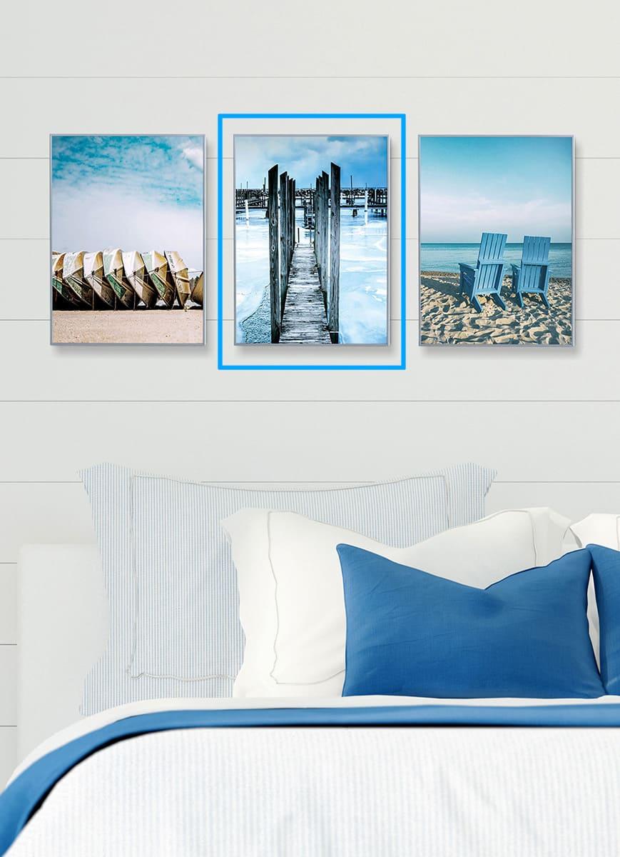 Quadro Decor Coleção Mar Azul C
