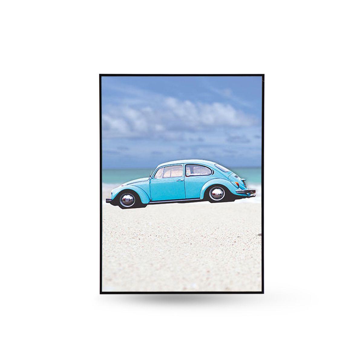 Quadro Decor Kit Coleção A Praia e o Fusca