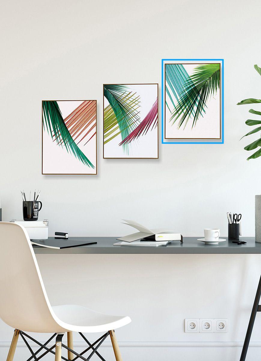 Quadro Decor Coleção Folha Palmeira Cores B