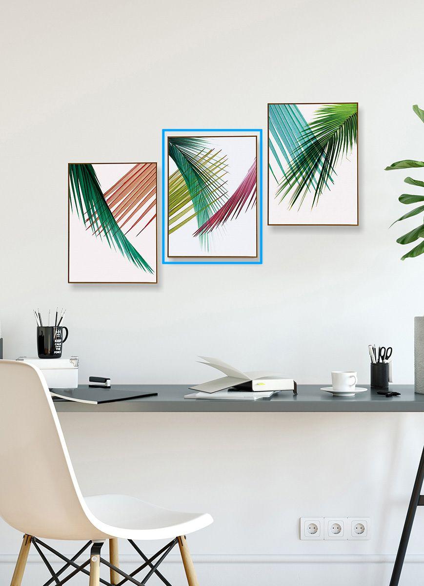 Quadro Decor Coleção Folha Palmeira Cores C