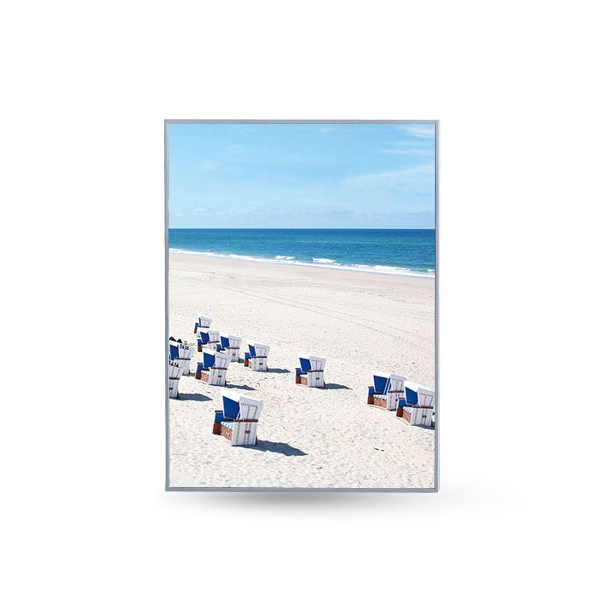 Quadro Decor Coleção A Praia e a Lambreta A