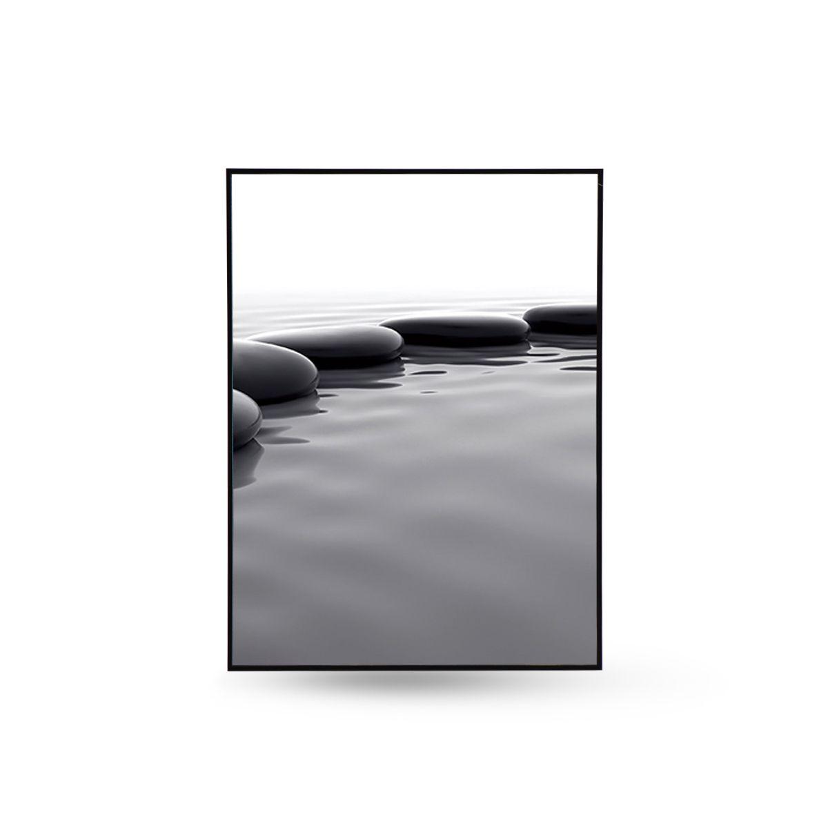 Quadro Decor Kit Coleção Caminho Pedras No Lago