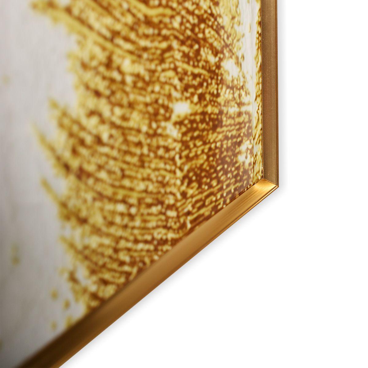 Quadro Decor Coleção Vale Dourado e Branco