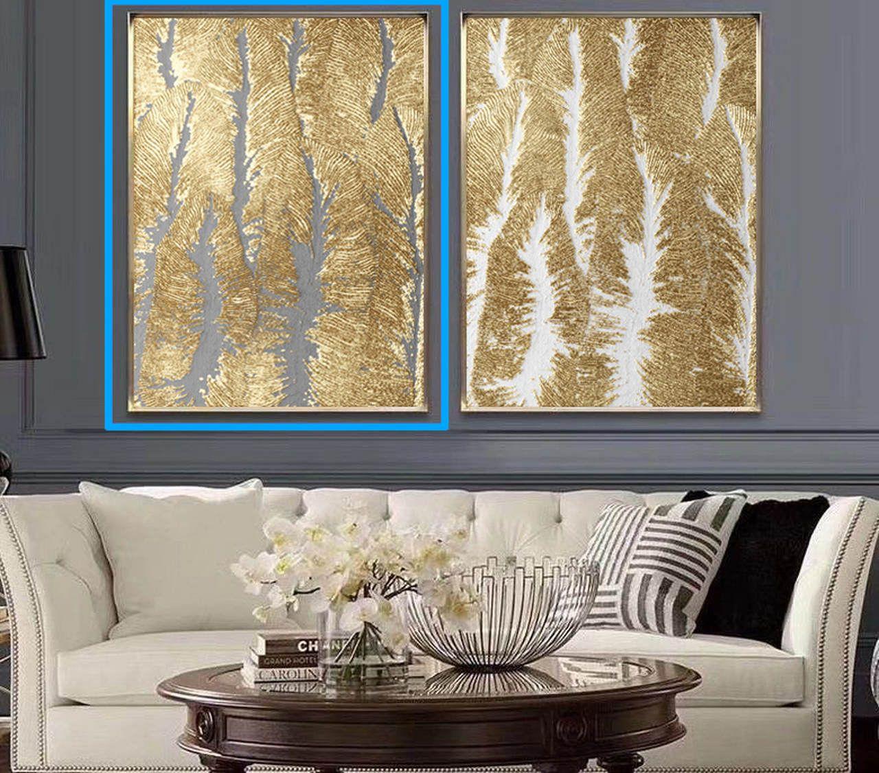 Quadro Decor Coleção Vale Dourado e Cinza