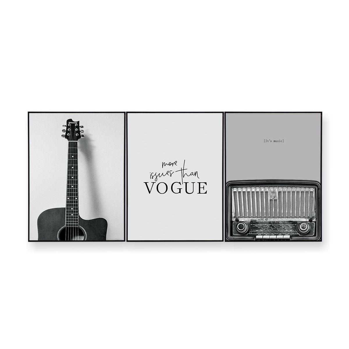 Quadro Decor Kit Coleção Estilo Musical