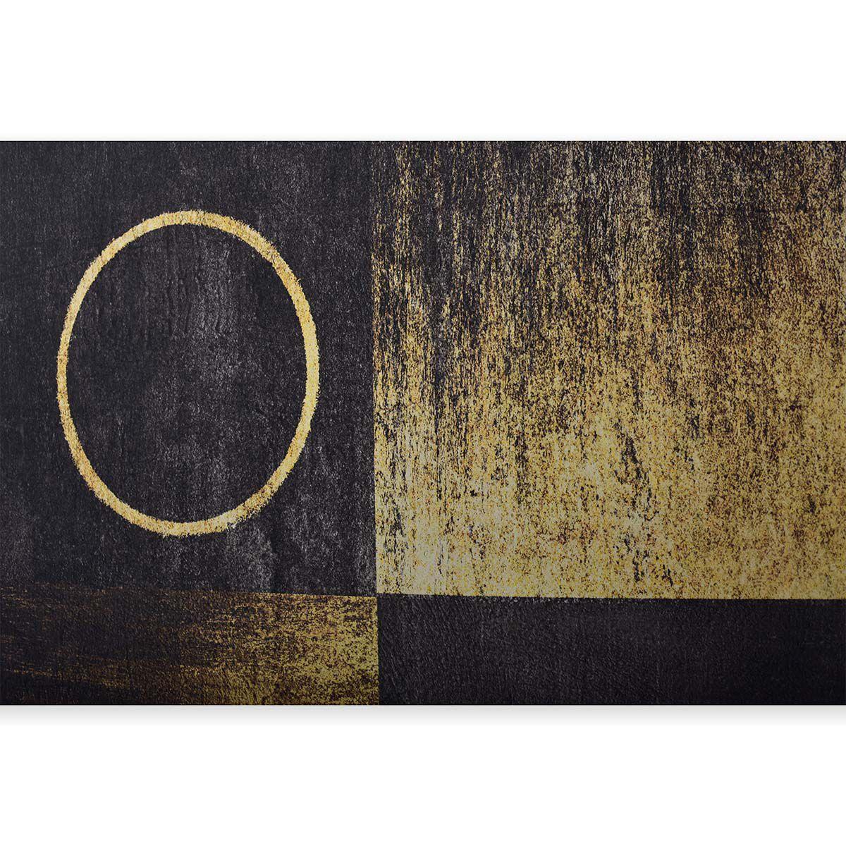 Quadro Decor Abstrato Esquadro Dourado