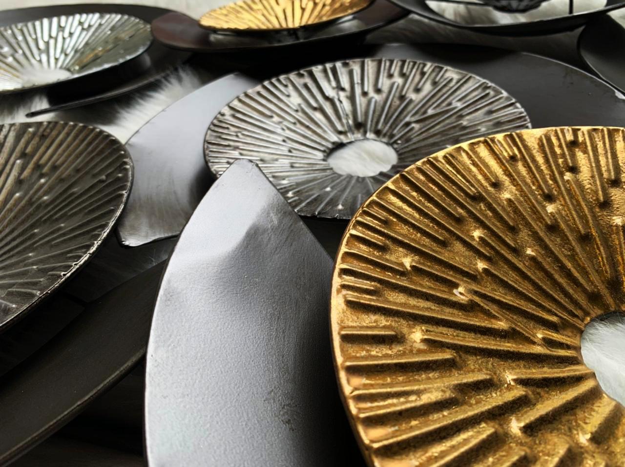 Escultura Decor Parede Charm Black