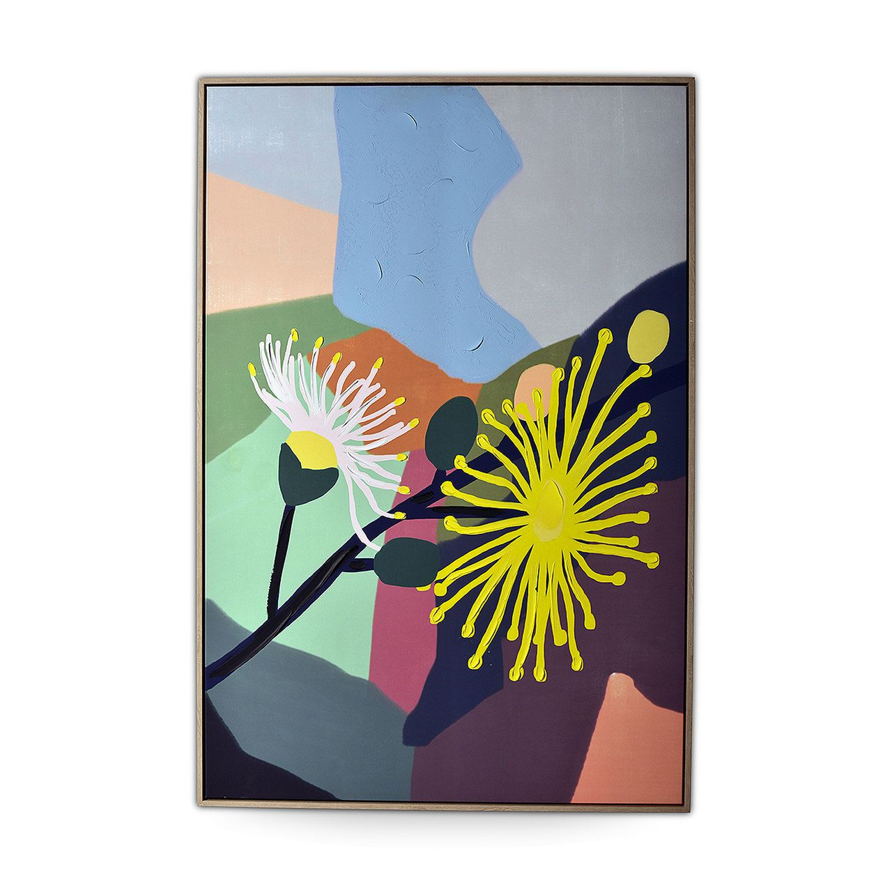 Quadro Decor Abstrato Modernista Flores