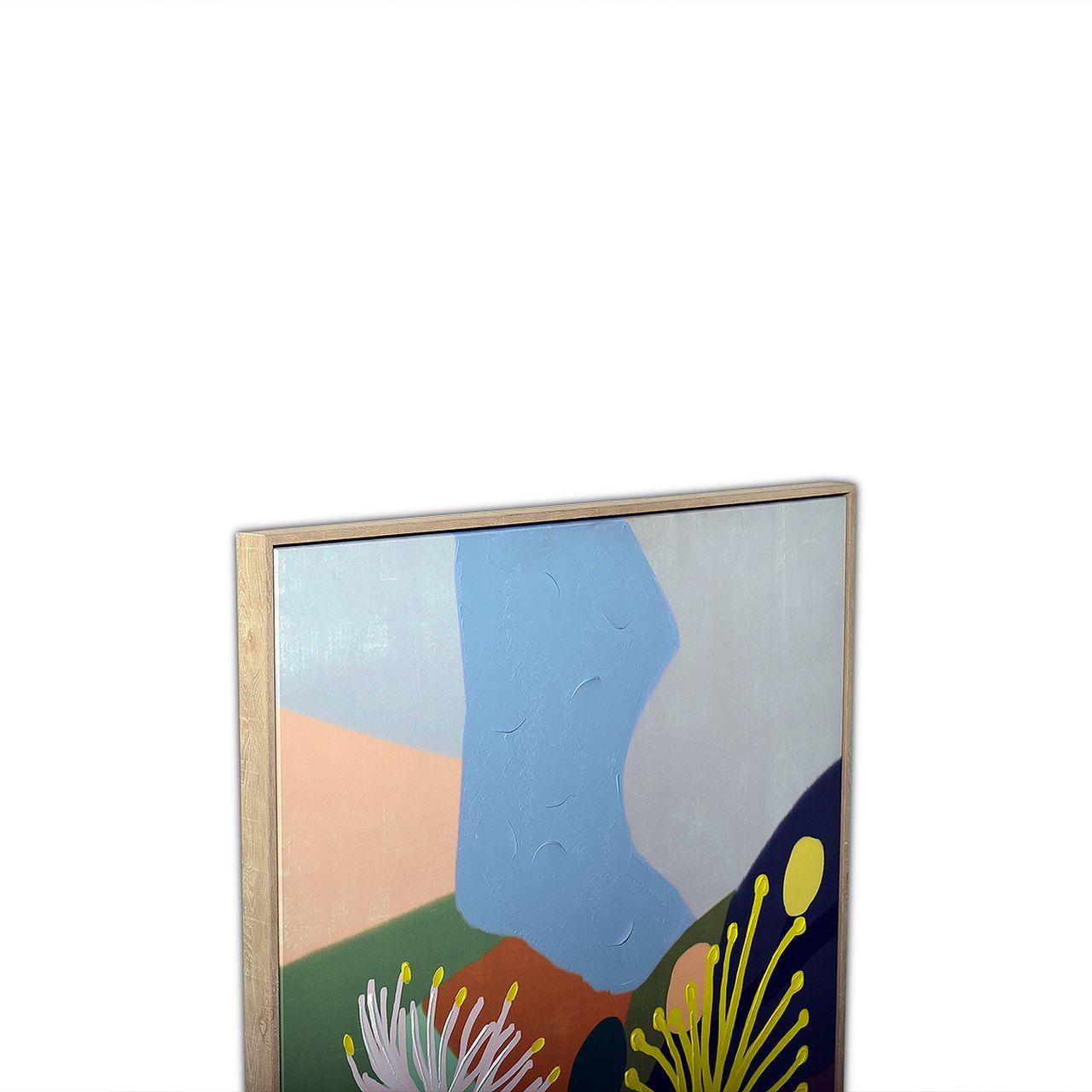 Quadro Decor Abstrato Modernista Flores