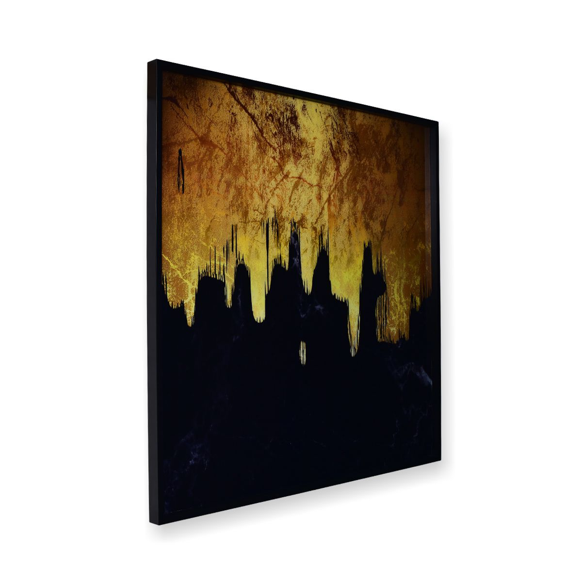 Quadro Decor Abstrato O Mistério Dourado